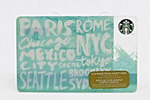 Starbucks Coffee 2014 Gift Card Destinations Cities Paris Rome NYC Zero Balance