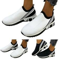 Womens Ladies Sport Walking Trainers Workout Sneakers Comfort Casual Flat Shoes