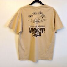 """5th Special Forces RIGGERS """"Keeping the Airborne"""" T-Shirt Sand Color Men's Large"""