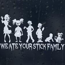 Nos comimos tu stick Zombie familia Coche Decal Pegatina De Vinilo Mamá Hermana chicos Chico Perro