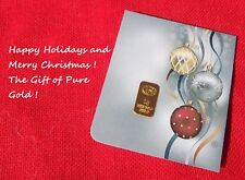 1 gram GOLD CGA BULLION HAPPY HOLIDAY Gold Bar (In Assay) IDEAL STOCKING STUFFER