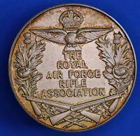 British RAF Rifle Assoc. sterling silver medallion medal 1936 38mm 31.1g [19534]