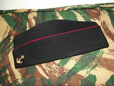 Calot Troupe de Marine passepoil rouge  Laine taille: 59. Indochine /Algérie.