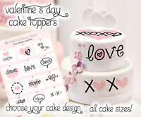 Valentine's Day Love EDIBLE CAKE TOPPER IMAGE Frosting Sheet