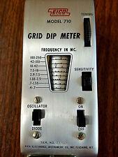 Vintage EICO Grid Dip Meter Model 710 With Manual