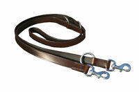 """LEATHER POLICE DOG TRAINING ADJUSTABLE LEAD, BROWN COLOR 1"""" WIDE, BRASS FITTING"""