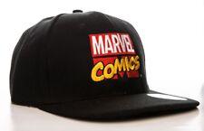 Cappello Marvel Comics retro embroidered logo Snapback Cap Hat Nero ufficiale