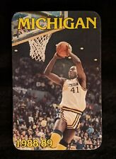 1988-89 University of Michigan Basketball Schedule - Glen Rice (Former NBA Star)