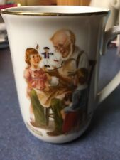 1982 Norman Rockwell Museum Collectible Coffee Tea Cup Mug The Toy Maker New