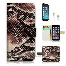 ( For iPhone 6 / 6S ) Wallet Case Cover! Snake Skin Leather P1445