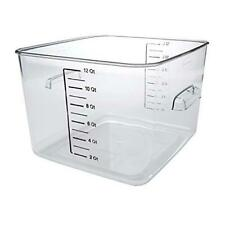 Rubbermaid Commercial Products Plastic Space Saving Square Food Storage
