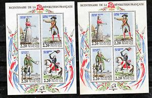 France BF 10 Révolution drapeau sans bleu et blanc droi et normal neuf ** TB MNH