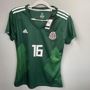 adidas mexico jersey #16 Saucedo 2018 Youth 2XL Adult small women Medium New