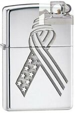 Zippo 28367 flag unity ribbon Lighter with PIPE INSERT PL