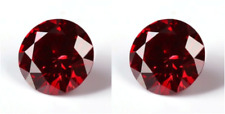 2 MOISSANITES 2.00 TCW. CHERRY RED LOOSE ROUND VVS1 SUPERIOR TO DIAMOND