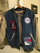 New York Rangers Custom Sports Jacket w/Lining, (Large), Rarely Worn & Very Cool