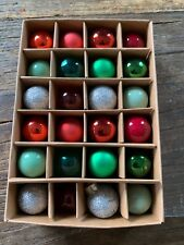 Anthropologie VINTAGE INSPIRED ~MINI~ Christmas ORNAMENTS, Boxed Set of 24, NEW