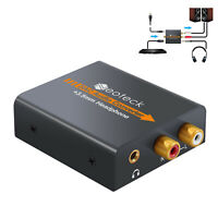 Digital DAC Toslink SPDIF to Analog Stereo Audio R/L Converter + Toslink cable