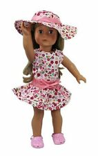 Doll Clothes For American Girl Dolls 3 Piece Flower Sun Dress Outfit