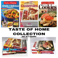 Taste of Home Hardcover Cookbooks Collection Set of 3 Recipe Casserole Cookies