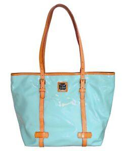 Dooney & Bourke Large Shopper Tote Patent Leather Bag Womens Handbag Purse