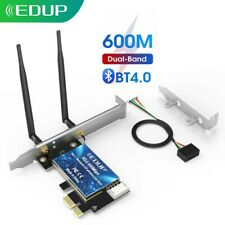 EDUP 600Mbps  WiFi Card PCI-E 5G Bluetooth4.0 Adapter Dual Band Wireless Network