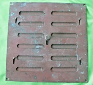Old antique reclaim weathered brass Hit & Miss Air Vent Ventilation Grille