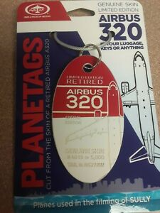 """Airbus A320 Combo (from the movie """"Sully"""") Plane Tag / Planetags - Free Shipping"""