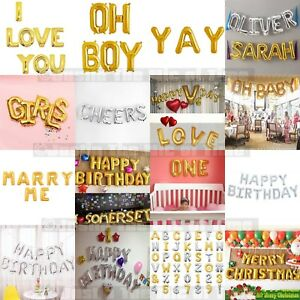 """16"""" Small Foil Balloon Letter Age Birthday Party Message Name Baby  SPELL IT OUT"""