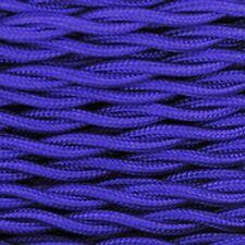 BLUE- Cloth Covered Twisted Wire - Retro Lamp Wire Pendant Light Cord Retro Cord