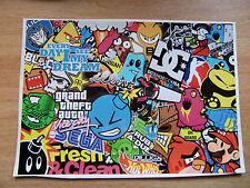 Sticker Bomb sheet 1 - A4 size