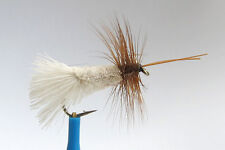 1 x Mouche Sèche SEDGE GODDARD BLANC H10/12/14/16 mosca fly peche nacre white