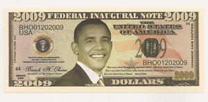 2009 Federal Inaugural Note...Barack H. Obama ~ President of the United States