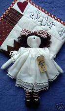 PRIMITIVE FOLK ART SEWING PATTERN 'EMILY'  RAG DOLL & QUILT