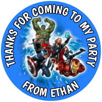 AVENGERS PERSONALISED GLOSS BIRTHDAY PARTY BOX, SWEET CONE STICKERS