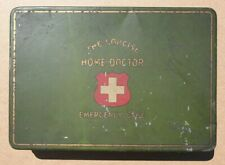 ANTIQUE (40s?) FIRST AID KIT - Concise Home Doctor Emergency Case - Vintage Med
