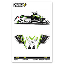2006-2011 ARCTIC CAT M SERIES CROSSFIRE GRAPHIC KIT IMPACT STYLE  BY ENJOY MFG