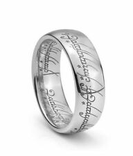 Silver Ring Unique Ring Tungstene + Chain The Lord of the Rings, taille 13US