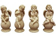 Set of 4 Stone 16 cm  Angels Figurines Home Decor Gift