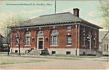 Government Building, Post Office on Broadway in Findlay, Ohio - Early 1900s View