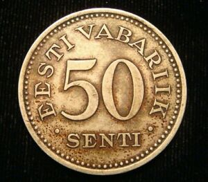 ESTONIA. 50 SENTI 1936. Free shipping.