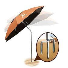 Orange Portable Sun Shade Shelter Anti UV Windproof Travel Patio Stand Umbrella