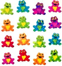 *RARE* GLITTERY CUTE COLORFUL MICRO FROGS FROG Sandylion Stickers - 48 STICKERS