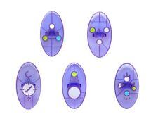 Lego Dimensions 5 x Keystone Symbol Shields - Transparent Purple / Lilac