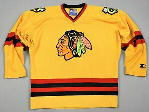 Chicago Blackhawks Starter NHL Jersey Shirt Size L