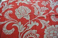 0.90 metres Designer Romo 'Inari' red floral fabric -RRP £45 per metre