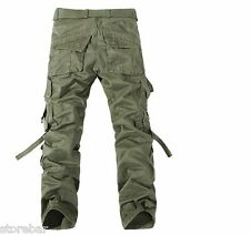 Men's Cargo Army Camo Pants Combat Military Camouflage Casual Workwear Trousers