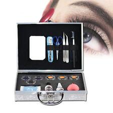 Pro False Fake Eyelashes Extension Individual Set Kit Case Tweezers Brush Glue