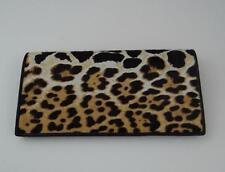 New Authentic YSL YVES SAINT LAURENT Leopard Print Pony Hair Long Wallet