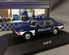 New - Atlas Police Car 1/43 DieCast Model - Saab 99 Collection
